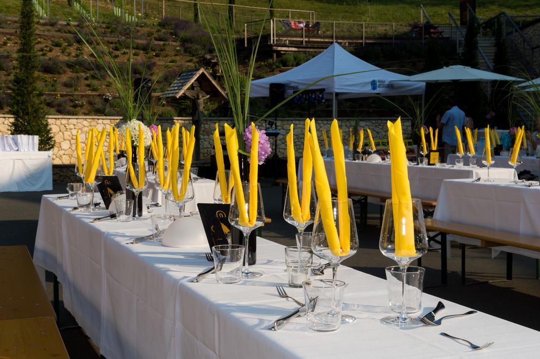 Festtafel beim Sommerfest der B&M TRICON GmbH