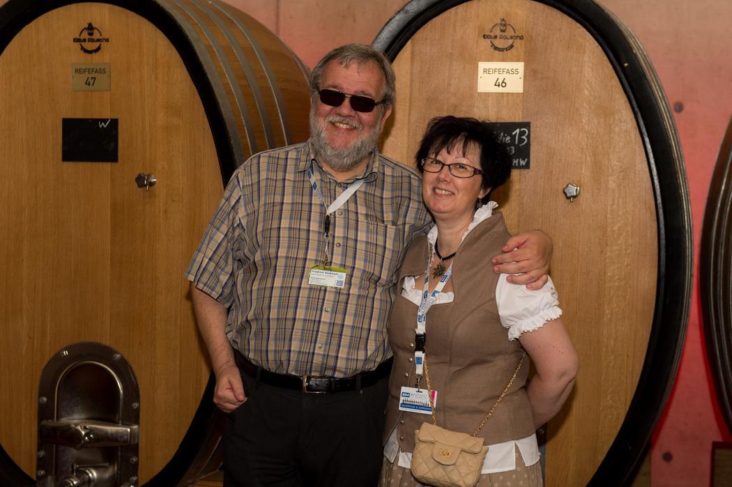 Führung durch die Weinproduktion beim B&M TRICON Sommerfest