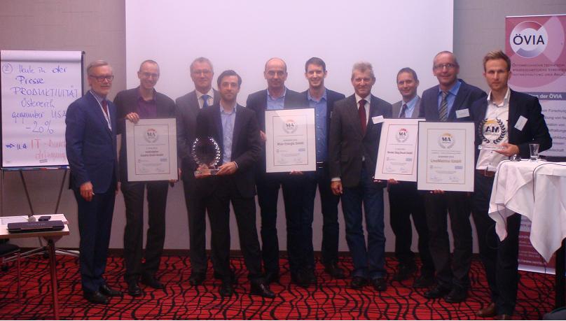 Verleihung des Maintenance Award MA² 2014 an die Wien Energie GmbH